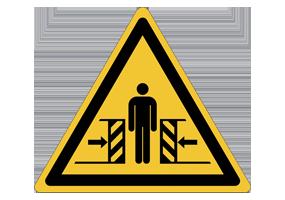 Panneaux et pictogrammes de danger lié aux machines