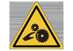 Panneaux et pictogrammes de danger pour les mains