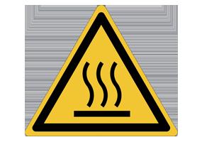 Pictogrammes de risques de brûlures thermiques et surfaces chaudes