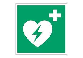 Panneaux et pictogrammes  Défibrillateurs (DAE)