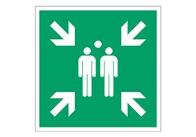 Panneaux et pictogrammes  Point de rassemblement
