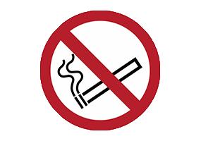 Panneaux et pictogrammes d'interdiction de fumer