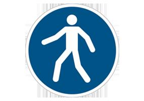 Panneaux et pictogrammes  Accès obligatoires