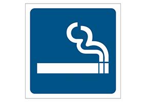 Panneaux et pictogrammes  Zone fumeur