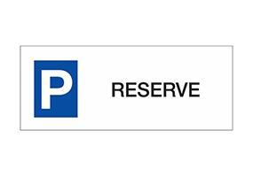 Panneaux et pictogrammes de parking réservé