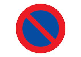 Panneaux et pictogrammes de stationnement interdit