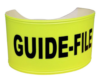 Brassard fluorescent jaune d'identification Guide-file.