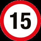 Panneau 15km/h
