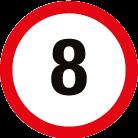 Panneau 8km/h