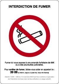 signalétique fumeur