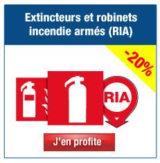 PPanneaux extincteurs et Robinets Incendie Armés (RIA)