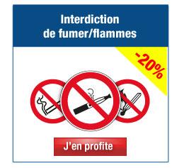 Panneaux et affiches Interdiction de fumer / flammes