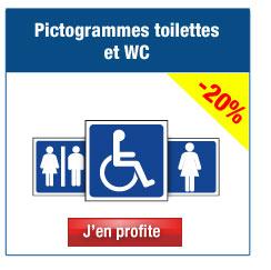 Pictogrammes toilettes & WC
