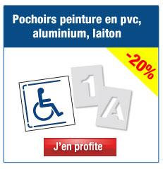 Pochoirs peinture en pvc, aluminium, laiton