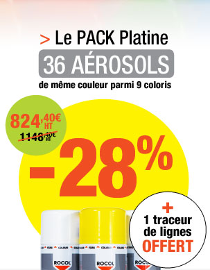 Kit de marquage 36 aérosols de peinture époxy Easyline® + 1 traceur Easyline®