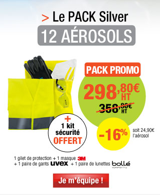 Kit 12 aérosols époxy Easyline® + 1 kit de sécurité offert