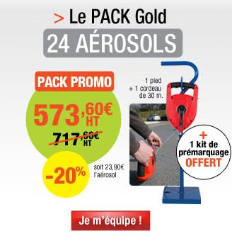 Kit 24 aérosols de peinture Easyline® + 1 kit de prémarquage offert