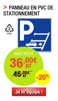 Panneau de stationnement en marche arrière en PVC avec symbole