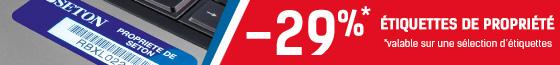 Profitez de -29% sur les étiquettes personnalisées