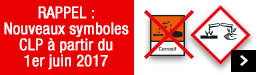 Nouveaux symboles CLP à partir du 1er juin 2017