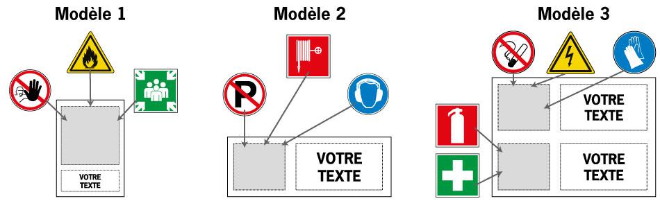 Modèles panneaux personnalisables