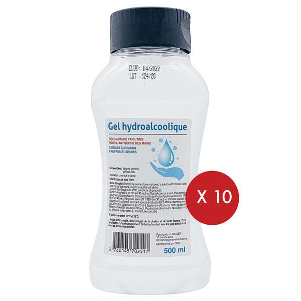 10 gels squeeze 500ml
