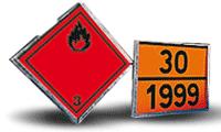 Cartelli e targhe per il trasporto di merci pericolose