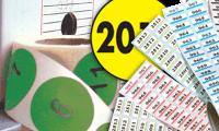 Etichette con numerazione e/o testo standard