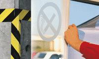 Soluzioni per la marcatura di suolo, pareti e vetri