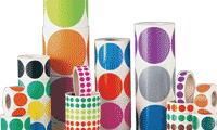 Bollini adesivi colorati per inventario
