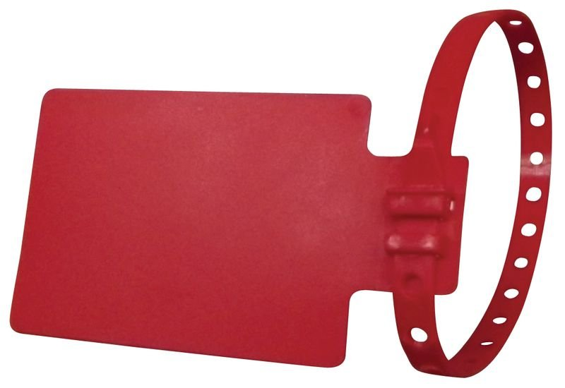 Porta etichette con fascetta in polipropilene flessibile