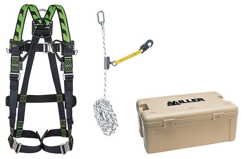 Kit anticaduta con imbracatura Miller® H-Design® a 2 punti e cordino con dispositivo scorrevole