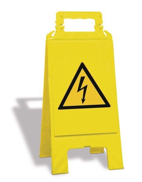 """Cavalletto di segnalazione """"Pericolo Elettrico"""" EN ISO 7010 - W012"""