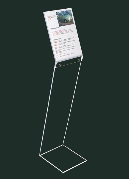 Leggio Da Terra Plexiglass.Espositore Di Documenti A Leggio Da Terra In Plexiglas