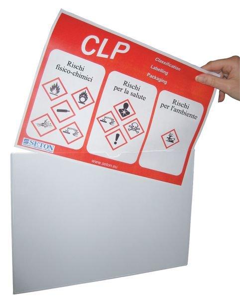 Portadocumenti di protezione trasparenti A4 con dorso magnetico