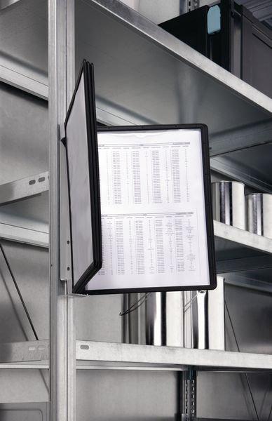 Leggio proteggi documenti magnetico a parete con buste A4