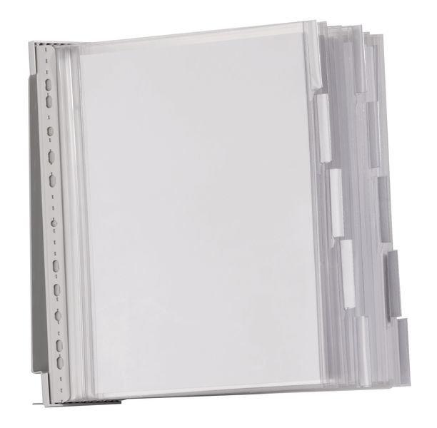 Leggio a parete proteggi documenti con buste ermetiche A4