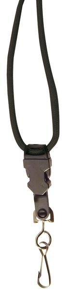 Cordini porta-badge tondi con chiusura di sicurezza, con anello o moschettone