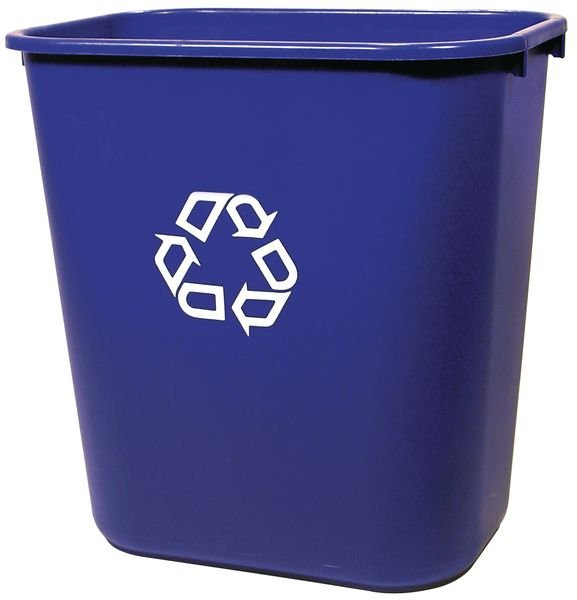 Cestino per raccolta differenziata in plastica con logo