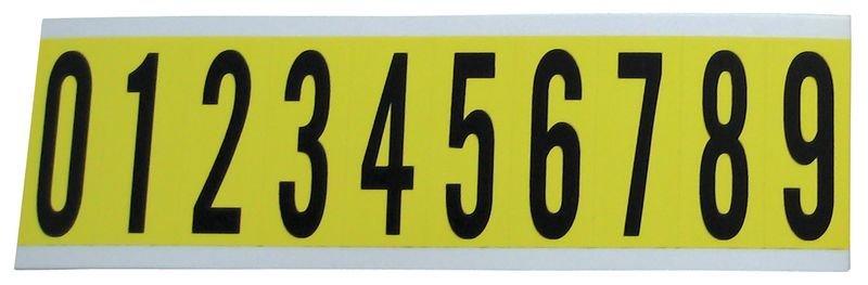 Cifre e lettere in tessuto plastificato in serie
