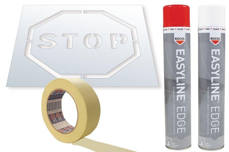 Kit stencil e vernice Easyline® simbolo Stop