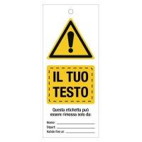 Etichette per bloccaggio di sicurezza (lockout) personalizzate