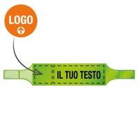 Bracciali di segnalazione fluorescenti in PVC morbido personalizzabili online