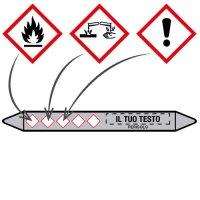 Etichette per tubazioni CLP personalizzate online