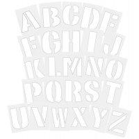 Stencil cifre e lettere in PVC per segnaletica orizzontale