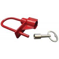 Lucchetto con chiave triangolare per vigili del fuoco