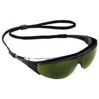 Occhiali di sicurezza avvolgenti con lenti verdi per saldatura