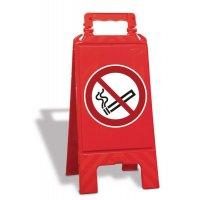 """Cavalletto di segnalazione """"Vietato fumare"""" EN ISO 7010 - P002"""