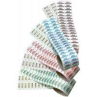 Etichette gemelle personalizzate in poliestere metallizzato prenumerate