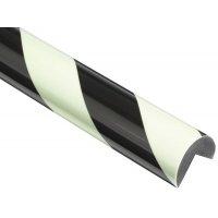 Profilo antiurto in schiuma Optichoc arrotondato - spigolo da 25 mm